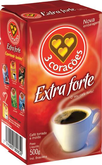 CAFÉ 3 CORAÇÕES EXTRA FORTE VÁCUO 500G