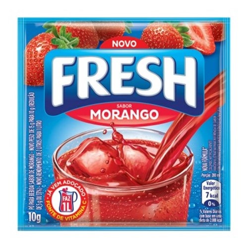 REFRESCO EM PÓ FRESH MORANGO 10G
