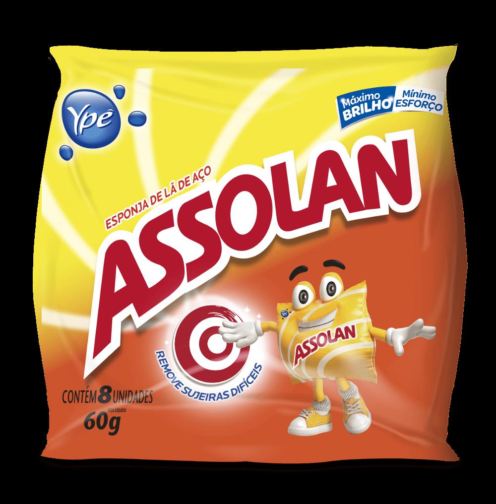 LÃ DE AÇO ASSOLAN 60G