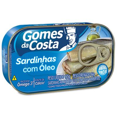 SARDINHA COM ÓLEO GOMES DA COSTA 125G