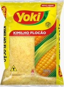 FARINHA DE  MILHO KIMILHO FLOCÃO YOKI 500G