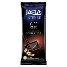 CHOCOLATE LACTA INTENSE 60% CACAU ORIGINAL INTENSO E MACIO 85G