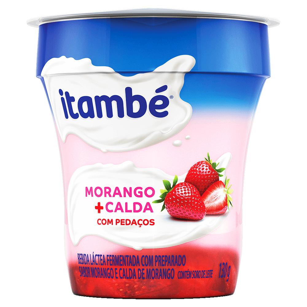 IOGURTE BICAMADA MORANGO COM PEDAÇOS DE MORANGO ITAMBÉ 130G