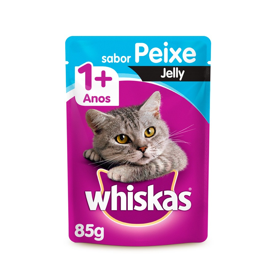 SACHÊ WHISKAS ADULTO PEIXE JELLY 85G