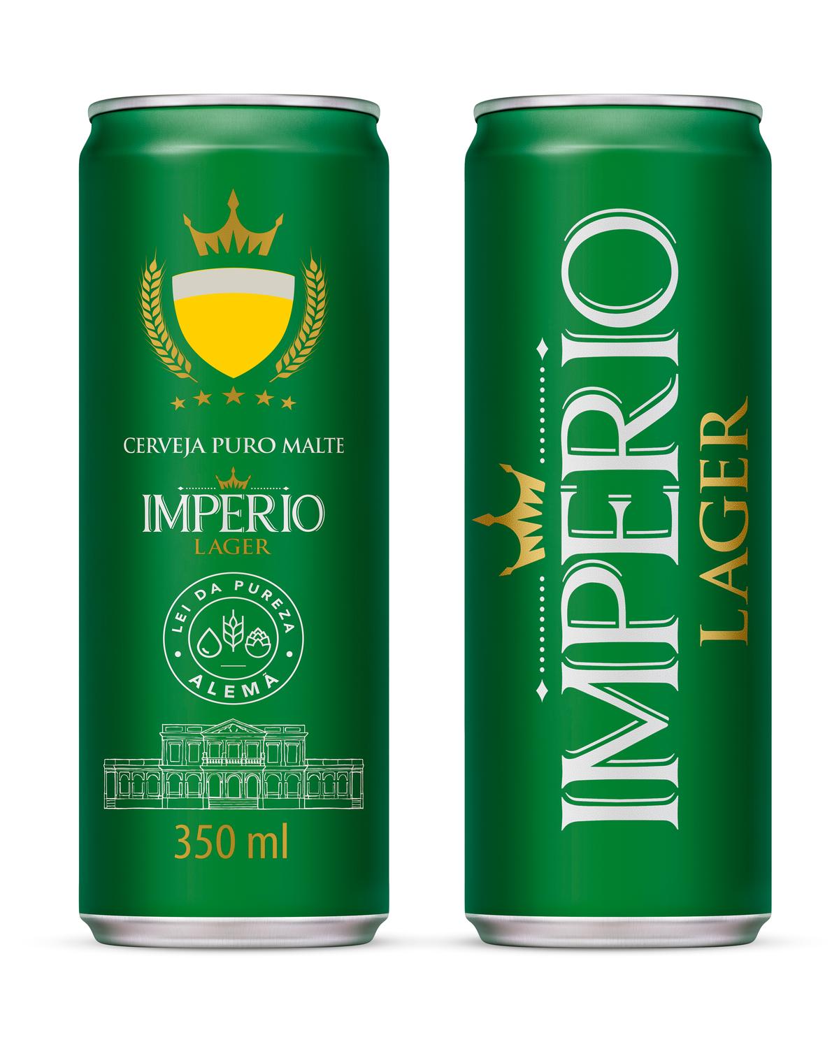 CERVEJA IMPERIO LAGER PURO MALTE 350ML UN