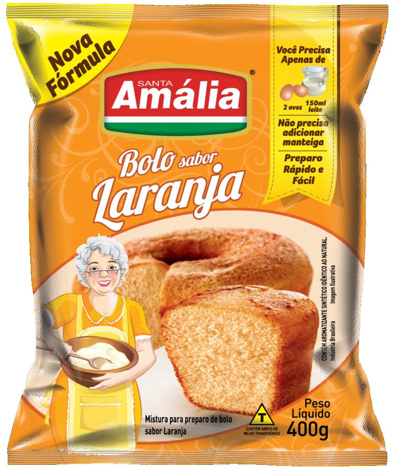 MISTURA PARA BOLO SANTA AMÁLIA LARANJA 400G