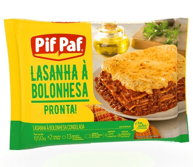 LASANHA À BOLONHESA PIF PAF 600G