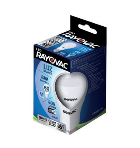 LAMPADA LED RAYOVAC  BIVOLT 806 IM BIVOLT 8W