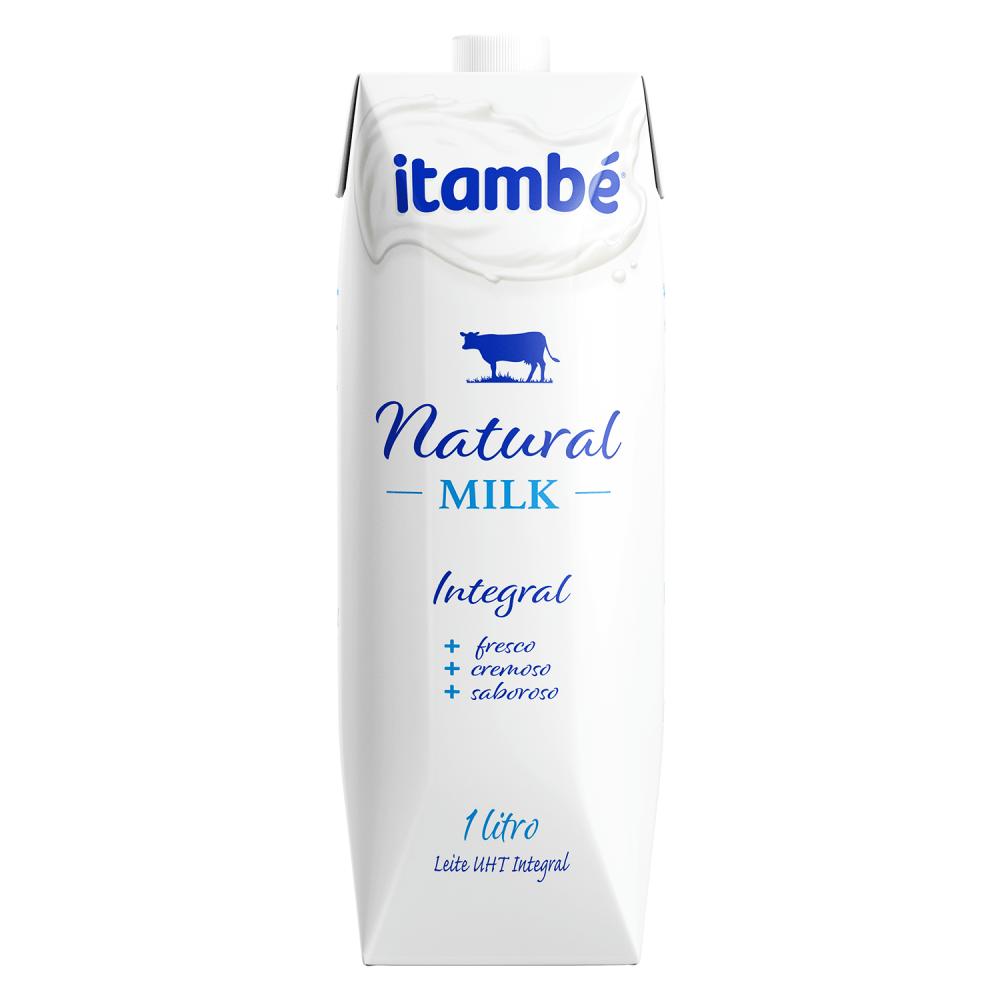 LEITE UHT ITAMBÉ INTEGRAL NATURAL MILK 1L