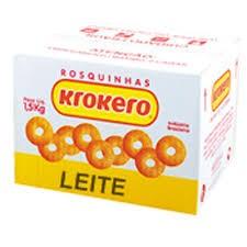 ROSQUINHA KROKERO SORTIDO LEITE CAIXA 1,5KG