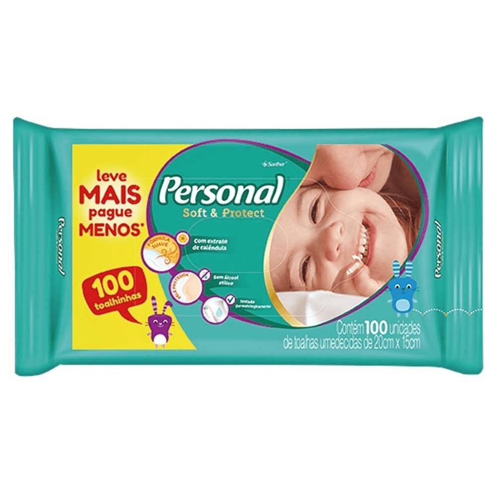 LENÇO UMEDECIDO PERSONAL BABY COM 100UN
