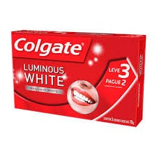 CREME DENTAL COLGATE LUMINOUS WHITE BRILLANT 70G  LEVE 3 PAGUE 2