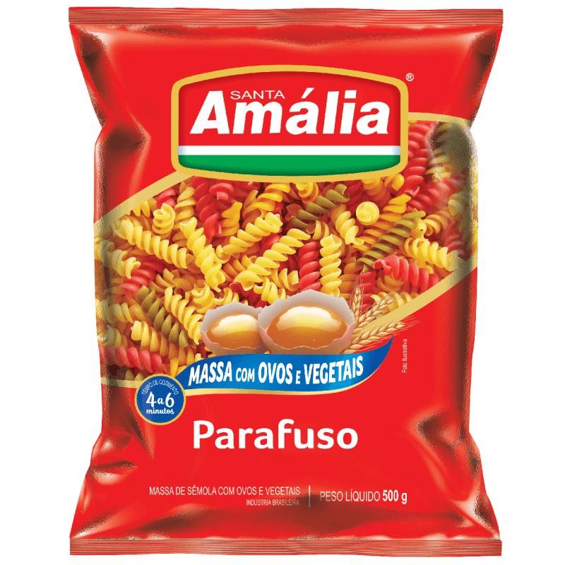 MACARRÃO OVOS SANTA AMÁLIA TETRACOLOR PARAFUSO 500G