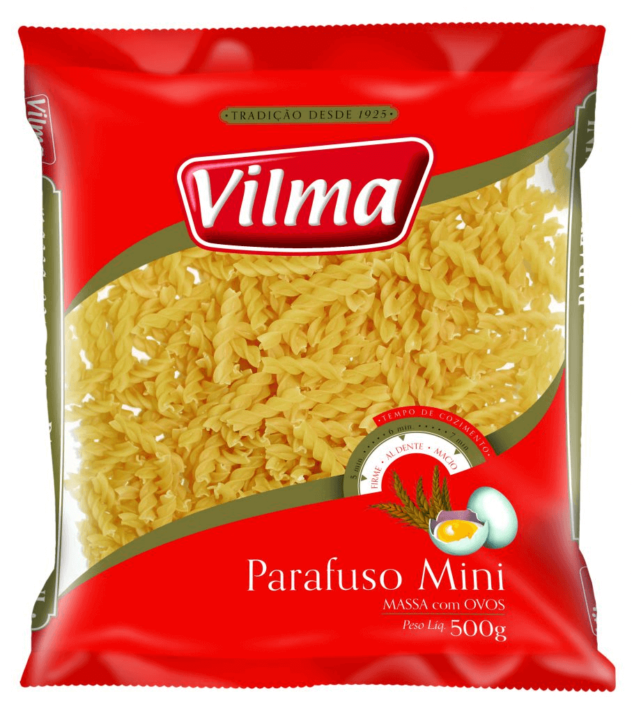 MACARRÃO COM OVOS VILMA PARAFUSO 500G