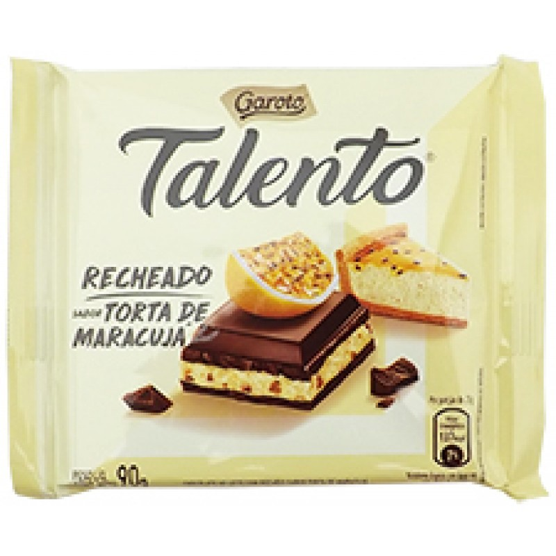 CHOCOLATE TALENTO TORTA DE MARACUJÁ 90G