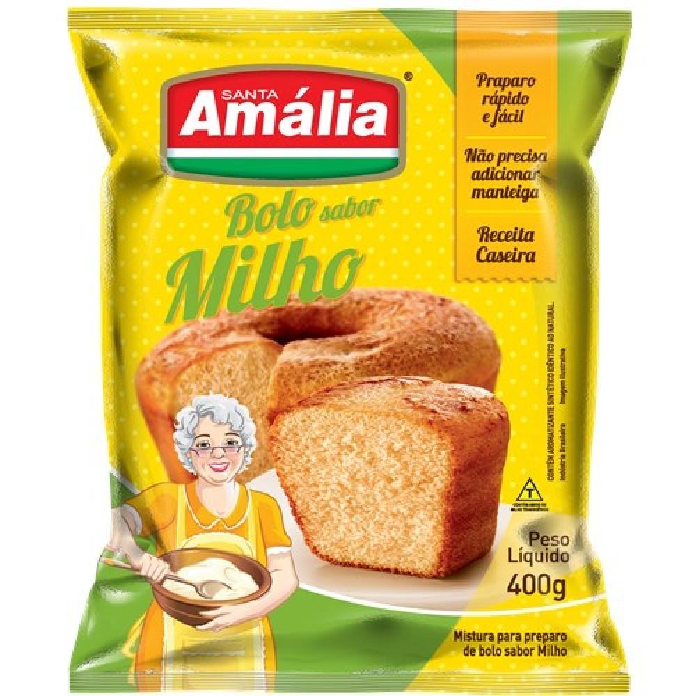 MISTURA PARA BOLO SANTA AMALIA MILHO 400G