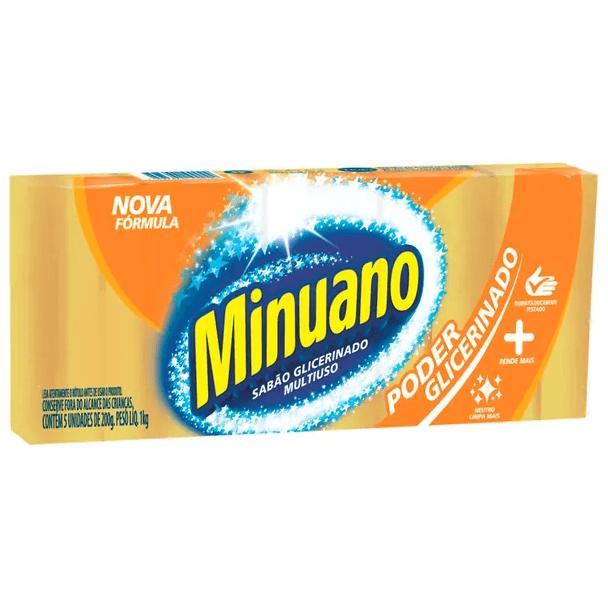 SABÃO EM BARRA MINUANO GLICERINADO 1KG