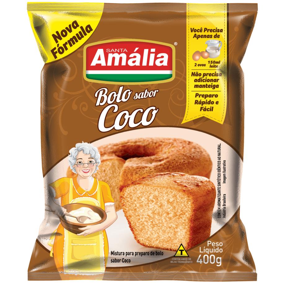 MISTURA PARA BOLO SANTA AMÁLIA COCO 400G