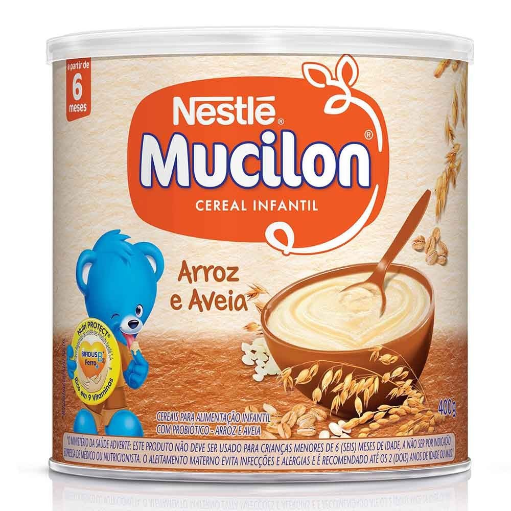 CEREAL INFANTIL MUCILON DE ARROZ  E AVEIA  400G