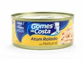 ATUM RALADO AO NATURAL GOMES DA COSTA  170G