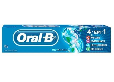 CREME DENTAL ORAL-B 4 EM 1 MENTA FRESCA 70G