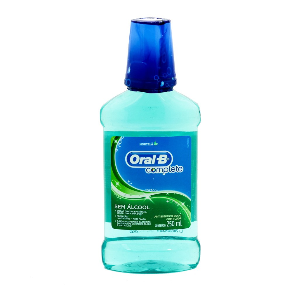 ANTISSÉPTICO BUCAL ORAL B HORTELA 250ML