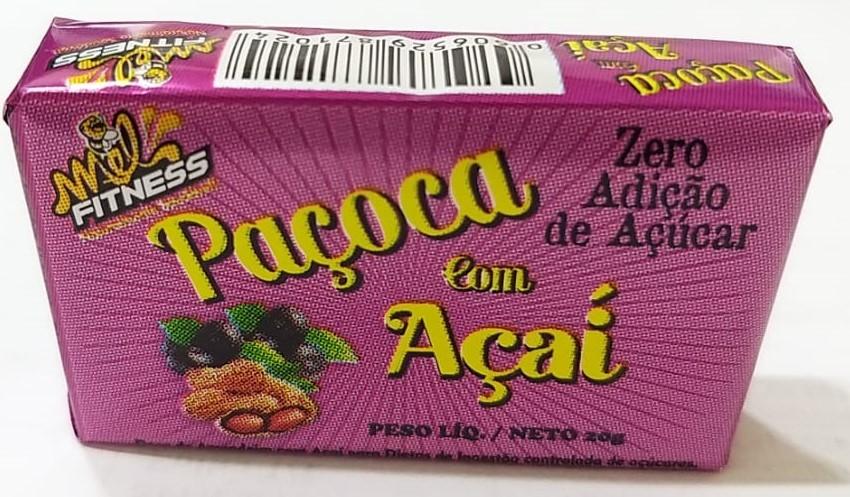 PAÇOCA COM ACAI ZERO AÇÚCAR 20G
