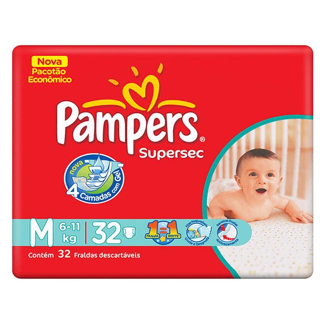 FRALDA DESCARTÁVEL PAMPERS SUPERSEC M30