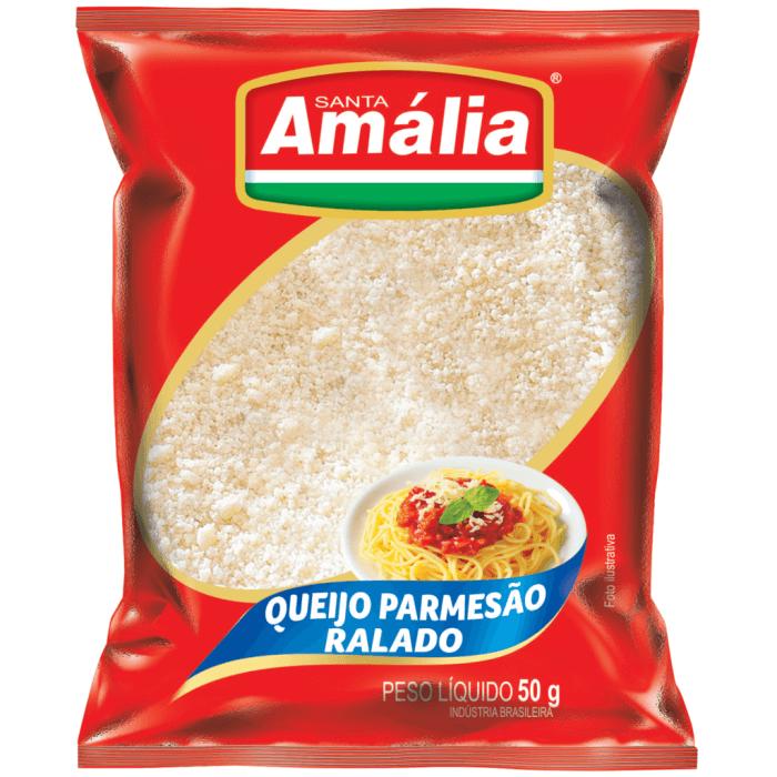 QUEIJO PARMESÃO RALADO SANTA AMÁLIA 50G