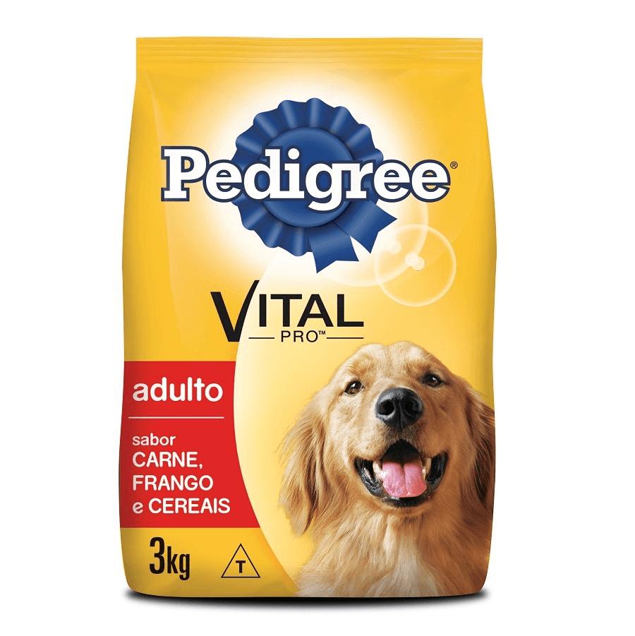 RAÇÃO PEDIGREE VITAL PRO ADULTO CARNE FRANGO E CEREIAS 3KG