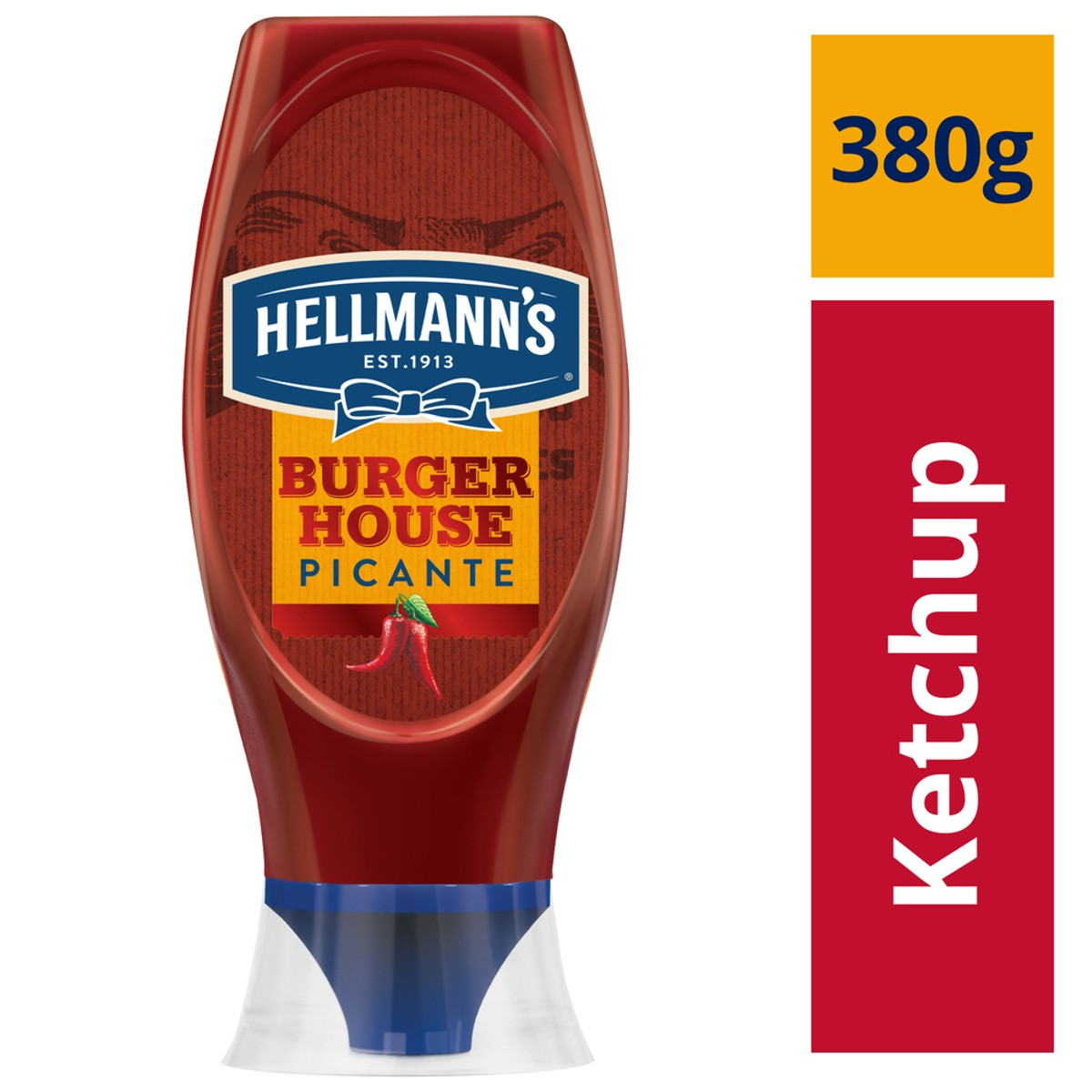 KETCHUP HELLMANN'S PICANTE SQUEEZE 380G