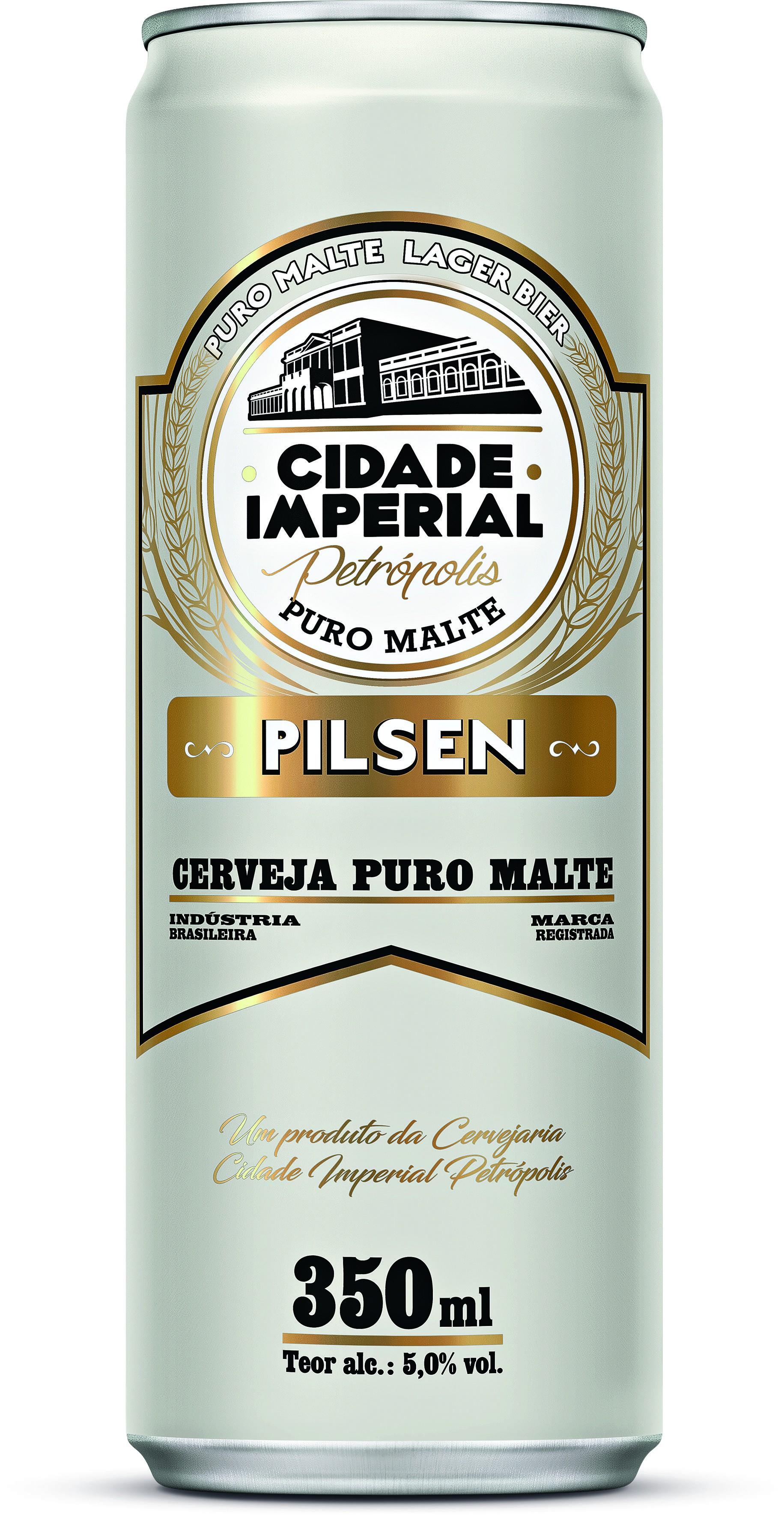 CERVEJA CIDADE IMPERIAL PURO MALTE PILSEN 350ML UN