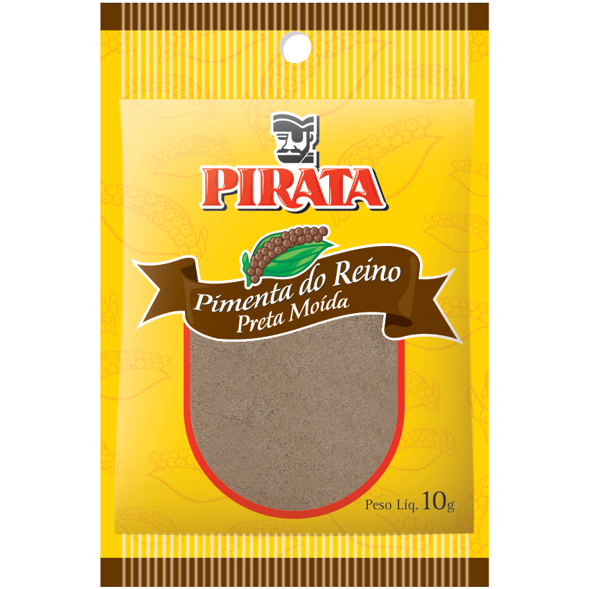 PIMENTA-DO-REINO PRETA MOÍDA PIRATA 10G