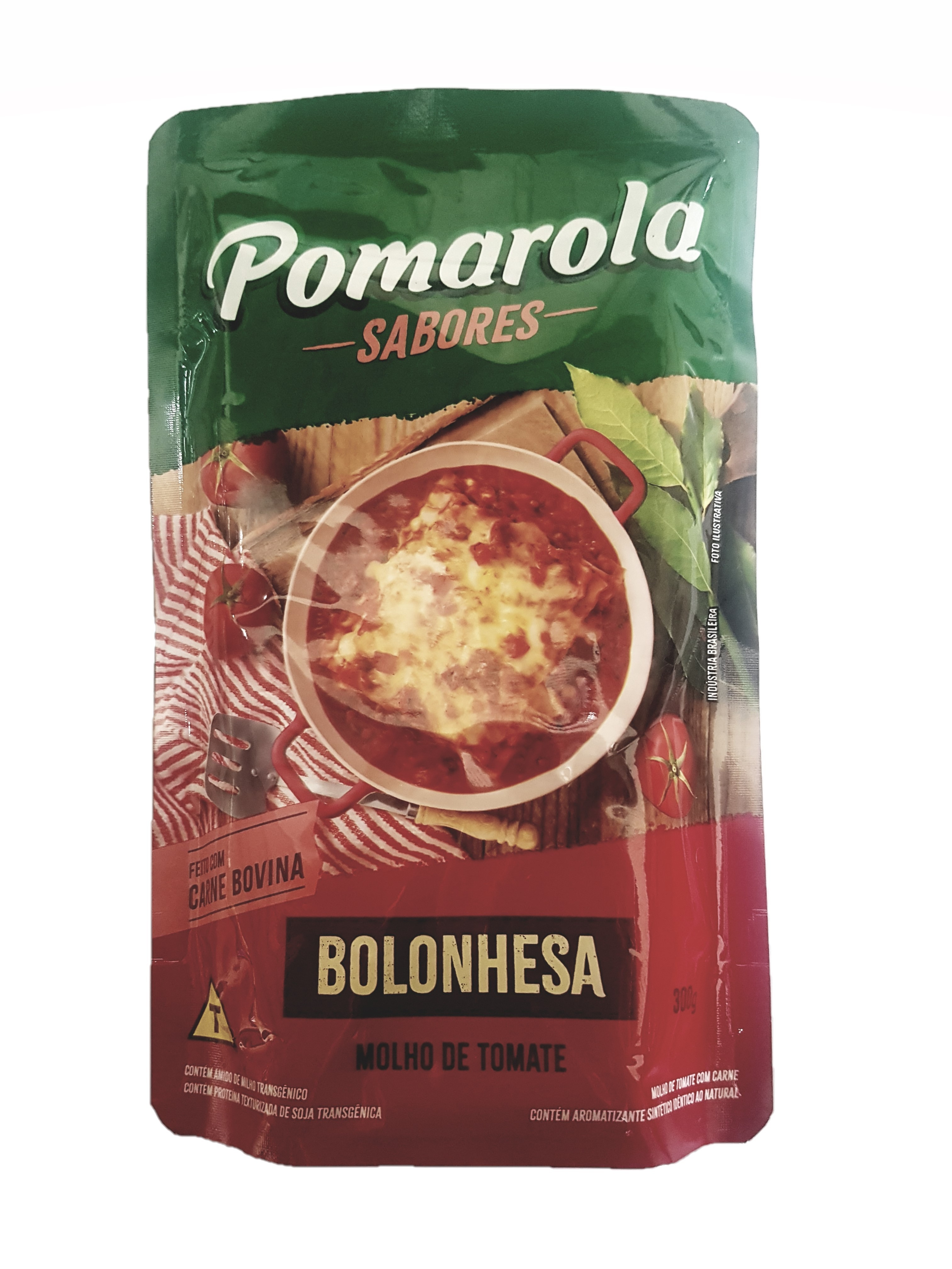 MOLHO DE TOMATE À BOLONHESA POMAROLA SACHÊ 300G
