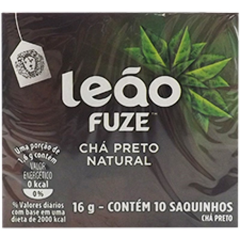 CHÁ PRETO LEÃO 10 SAQUINHOS 16G