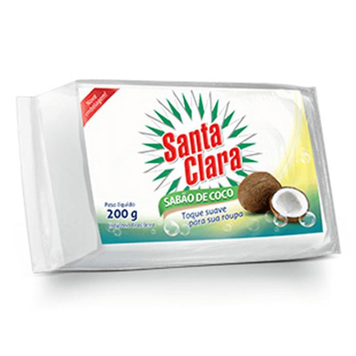 SABÃO EM BARRA DE COCO  SANTA CLARA 200G