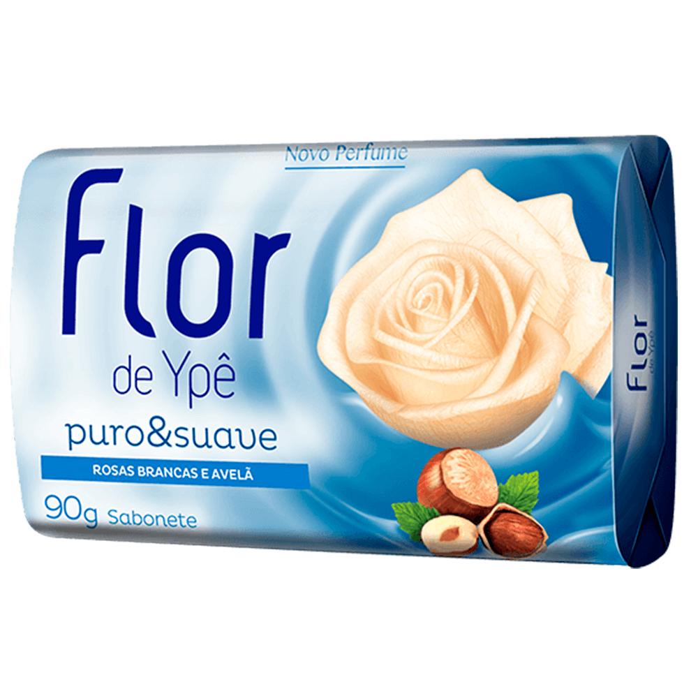 SABONETE FLOR DE YPÊ ROSAS BRANCAS E AVELÃ 85G
