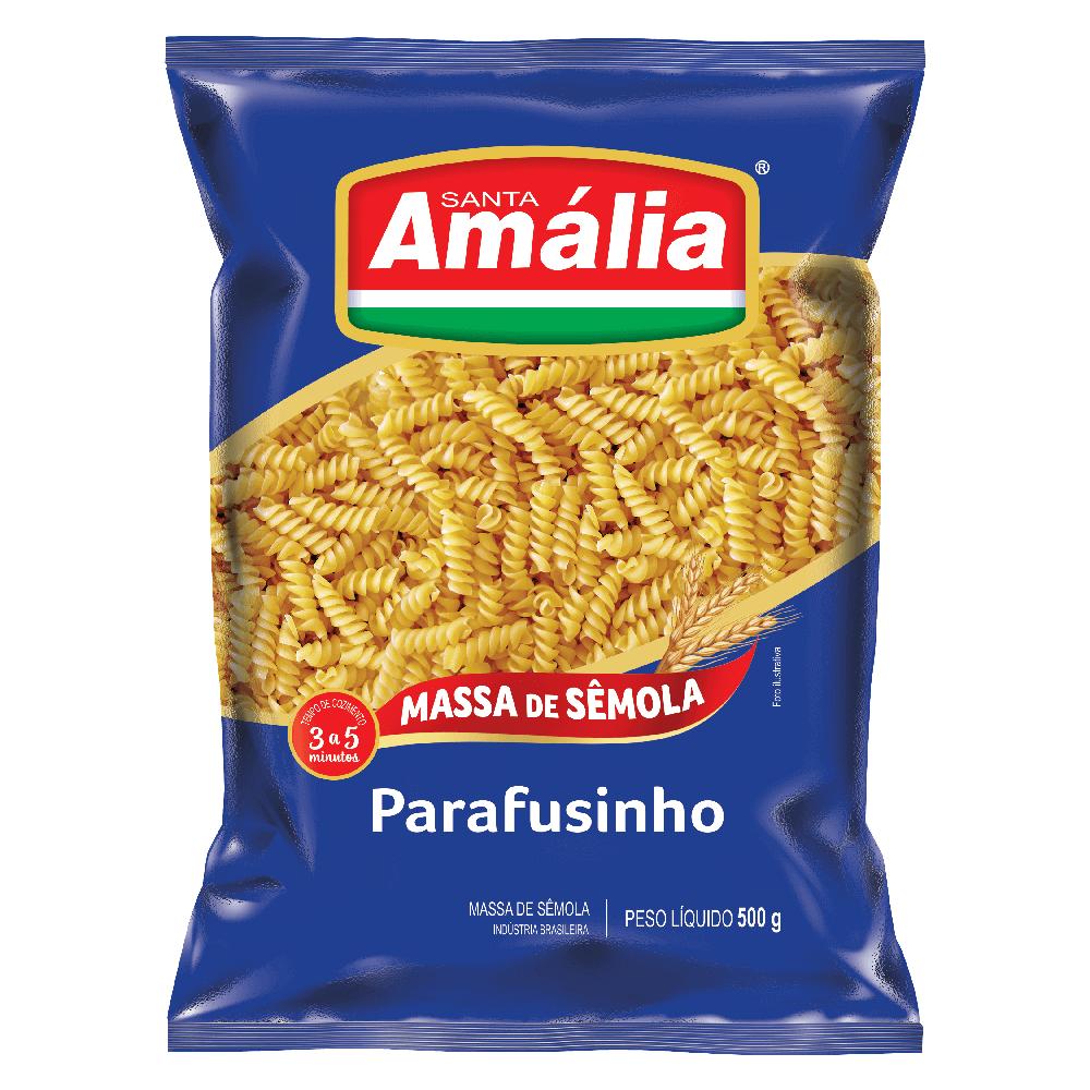 MACARRÃO SÊMOLA SANTA AMÁLIA PARAFUSINHO 500G
