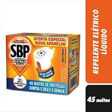APARELHO ELÉTRICO LIQUIDO SBP 45 NOITES  + REFIL 35ML
