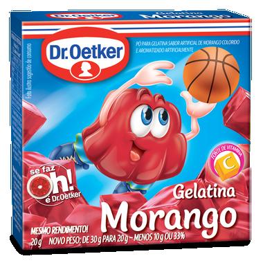 GELATINA DR.OETKER MORANGO 20G