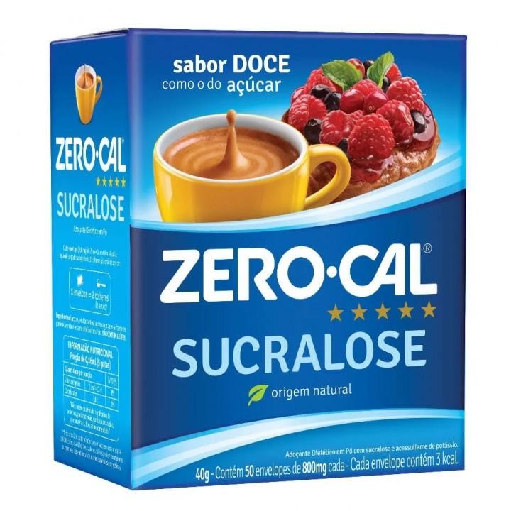 ADOÇANTE ZEROCAL SUCRALOSE COM 50 ENVELOPES  40G