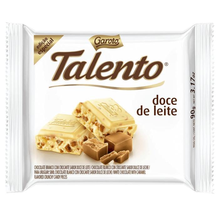 CHOCOLATE BRANCO TALENTO DOCE DE LEITE 90G