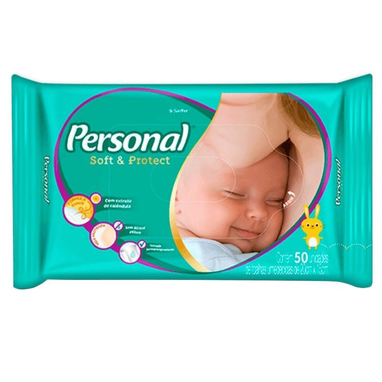 TOALHAS UMEDECIDAS PERSONAL BABY COM 50UN