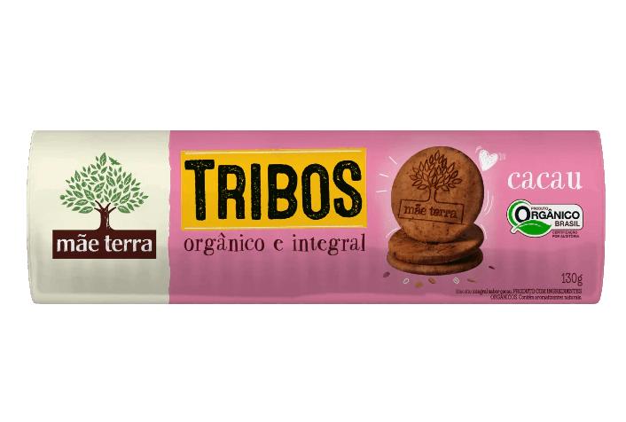 BISCOITO ORGÂNICO TRIBOS CACAU 130G