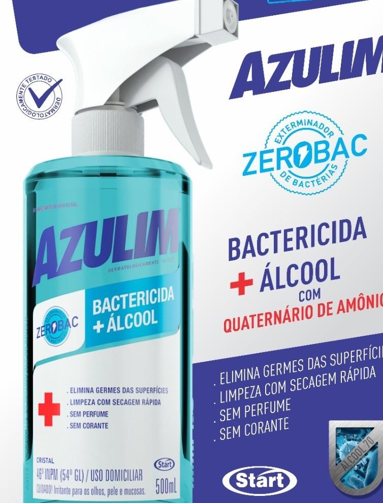 DESINFETANTE AZULIM ZEROBAC BACTERICIDA + ÁLCOOL SPRAY 500ML