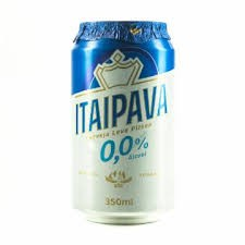 CERVEJA ITAIPAVA ZERO ALCOOL LATA 350ML